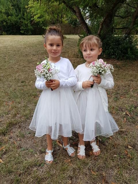 robe coquette fille communion